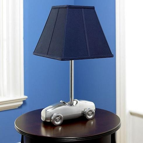 Boys Room Decorating Race Car Table Lamp