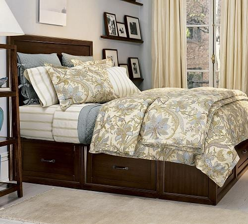 Stratton Platform Bed With Underneath Storage From Pottery