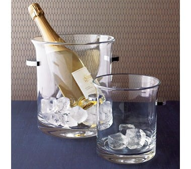 Kenzie Glass Ice Bucket Wine Cooler From Crate Amp Barrel