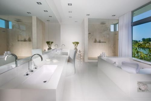 Miami Home Pictures Highlighting Interior Design in White