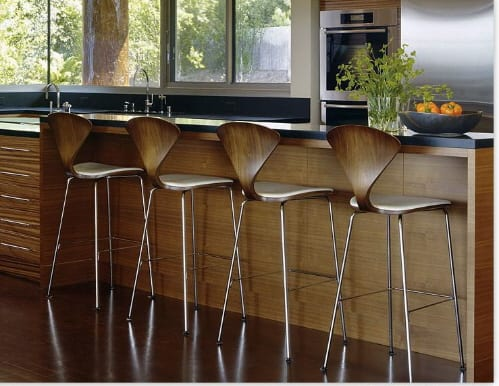 Fantastic 1958 Norman Cherner Bar Stools And Counter Stools Reissued Gmtry Best Dining Table And Chair Ideas Images Gmtryco