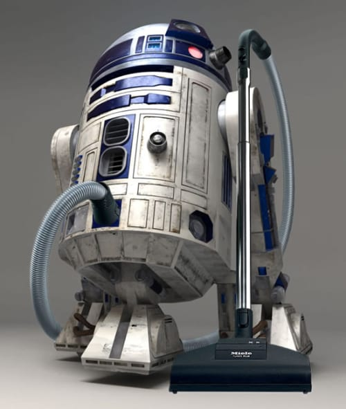 R2VAC2 Vacuum Cleaner Doesn't Like the Dark Side of the