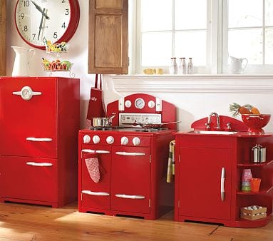 The Red Retro Kitchen Collection For Children