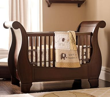 Pottery Barn Kids Crib The Larkin Fixed Gate Sleigh