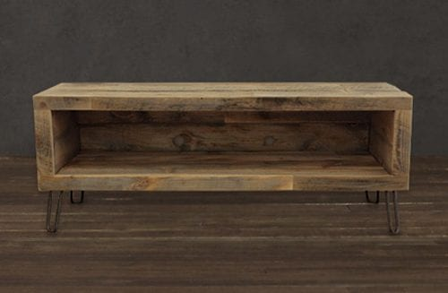 reclaimed wood media stand