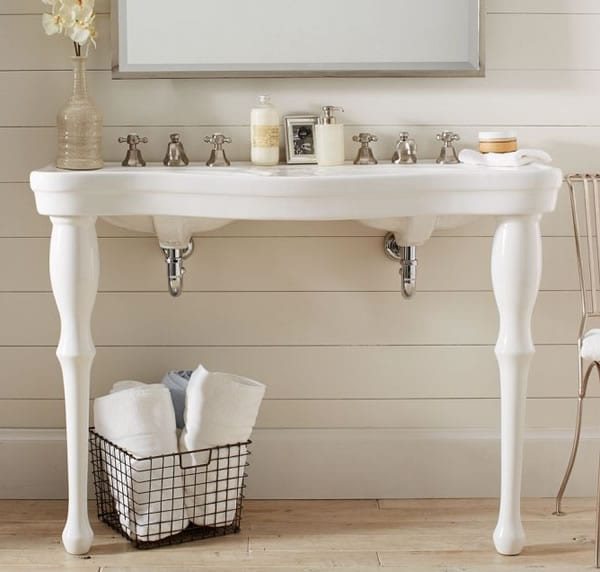 Timeless Beauty Parisian Pedestal Double Sink By Pottery Barn