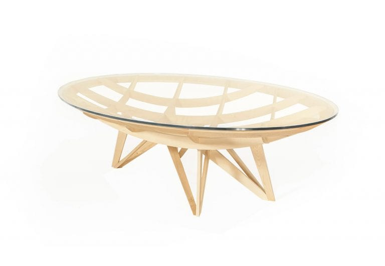 Modern table with glass top