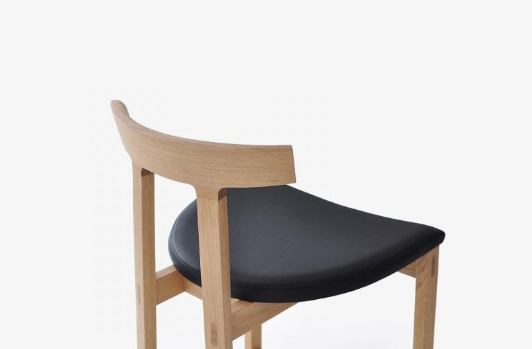 wood and leather modern stool