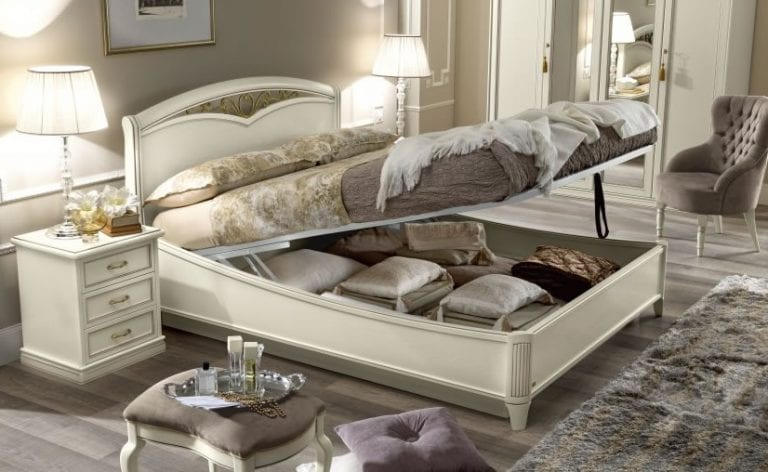 double bed with hidden storage