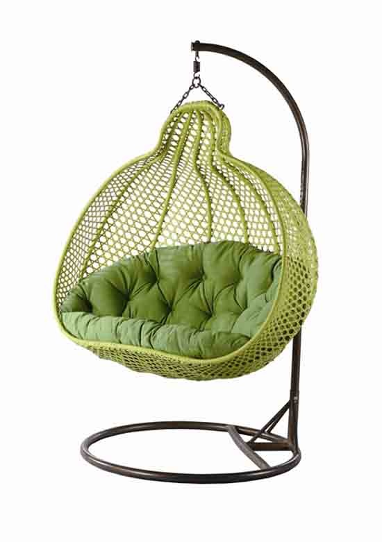green hanging chair