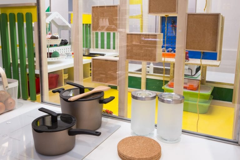 Concentric Small Space Kitchen Design from Ikea