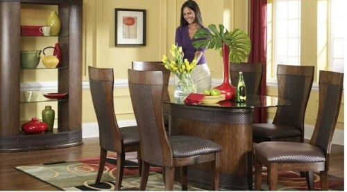 No One Does Dining Tables Like Ashley, Ashley Furniture Mirror Jewelry Armoire