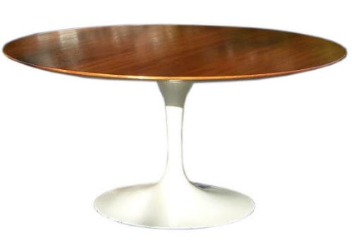 Knoll Saarinen Pedestal Collection Oval Dining Table